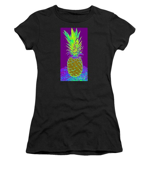 Purple Pineapple Women's T-Shirt (Athletic Fit)