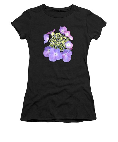 Purple Pods Sehemu Mbili Unyenyekevu Women's T-Shirt (Athletic Fit)