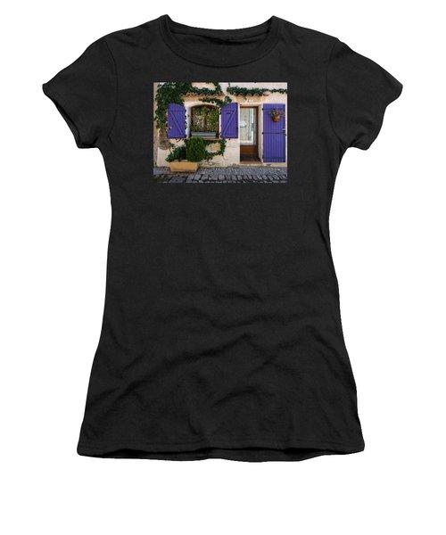 Purple Shutters Women's T-Shirt