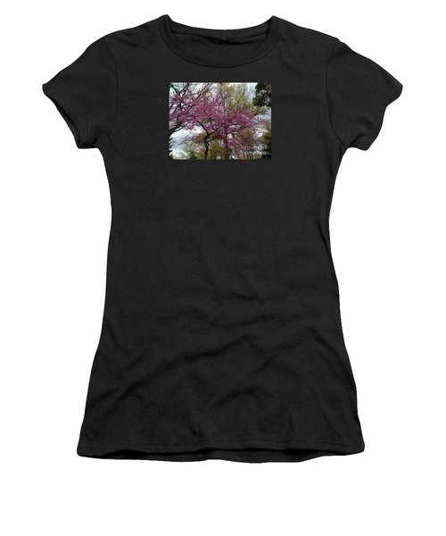 Purple Spring Trees Women's T-Shirt
