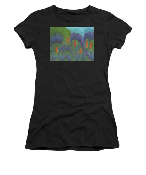 Purple Strife And Cattails Women's T-Shirt