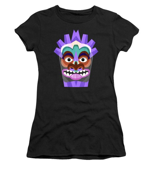 Purple Tiki Mask Women's T-Shirt