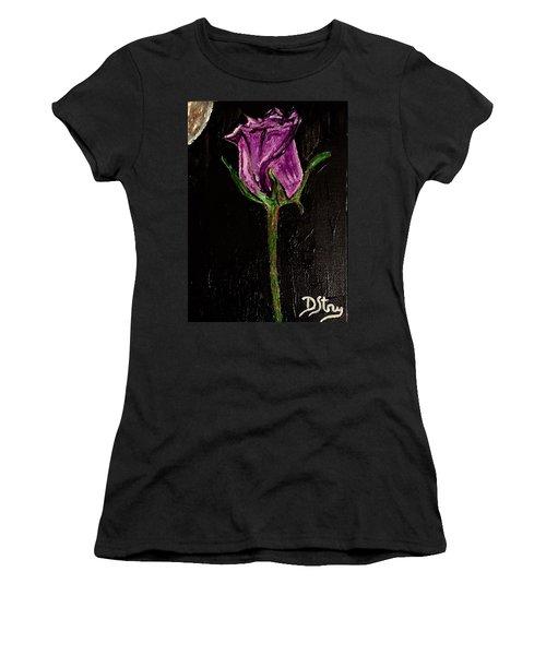 Purple Under The Moon's Glow Women's T-Shirt