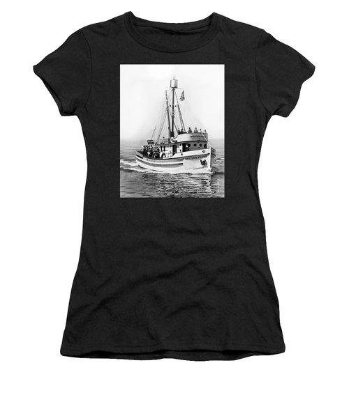 Purse Seiner Western Flyer On Her Sea Trials Washington 1937 Women's T-Shirt
