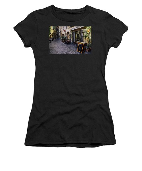 Quaint Cobblestones Streets In Rome, Italy Women's T-Shirt