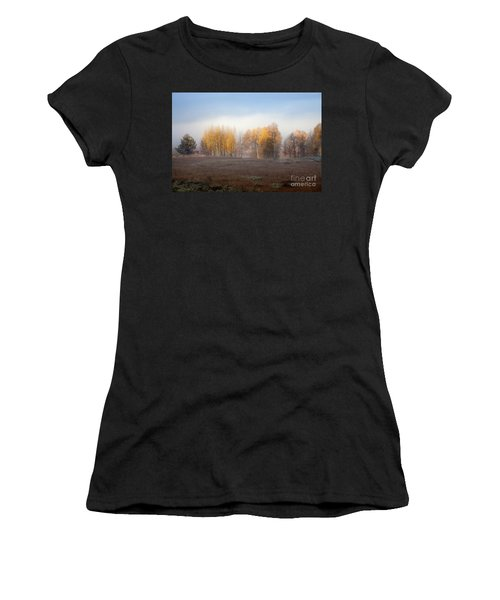 Quaking Aspen Trees At Dawn, Grand Teton National Park, Wyoming Women's T-Shirt (Athletic Fit)
