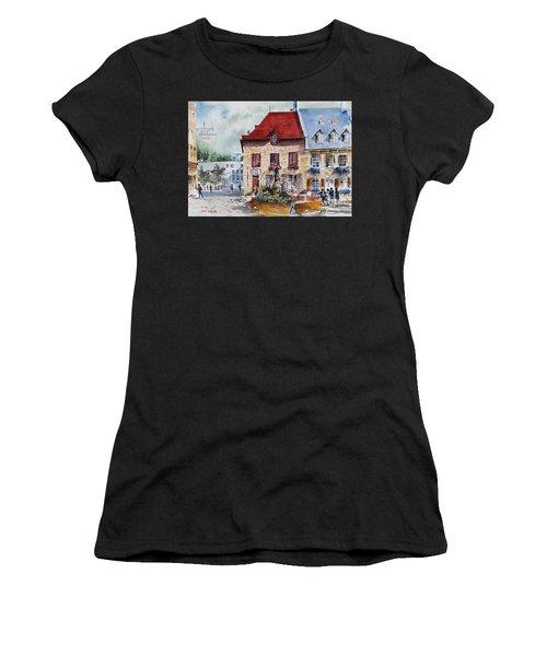 Quebec City Flower Boxes Women's T-Shirt