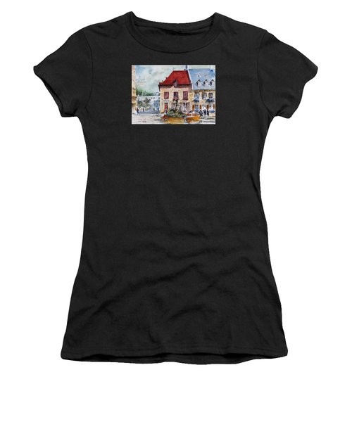 Quebec City Flower Boxes Women's T-Shirt