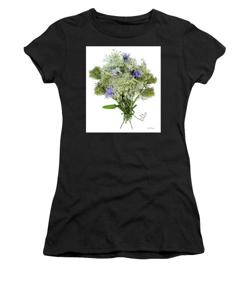 Queen Anne's Lace With Purple Flowers Women's T-Shirt