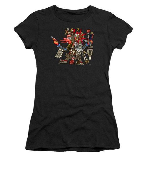 Quetzalcoatl In Human Warrior Form - Codex Borgia Women's T-Shirt