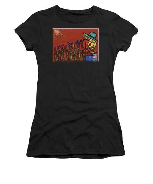Queuing For Residuals  Women's T-Shirt (Junior Cut) by Darrell Black