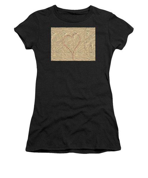 Women's T-Shirt featuring the painting Tranquil Heart by Marian Palucci-Lonzetta