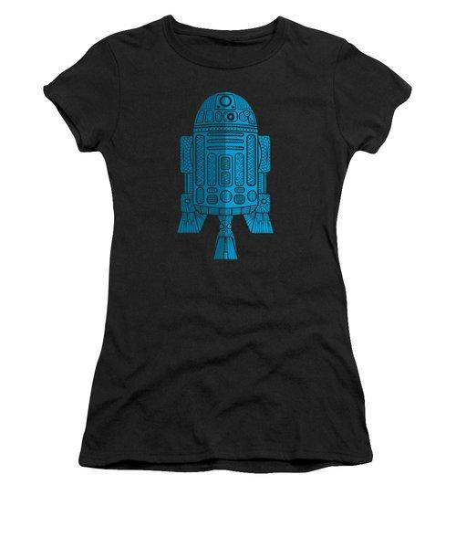 R2d2 - Star Wars Art - Blue 2 Women's T-Shirt (Athletic Fit)