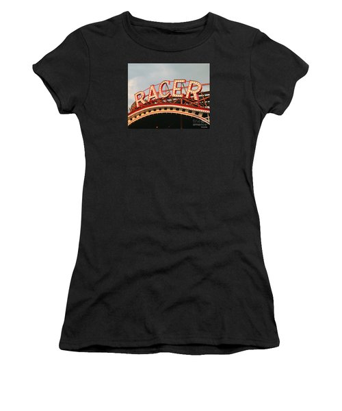 Racer Coaster Kennywood Park Women's T-Shirt (Athletic Fit)