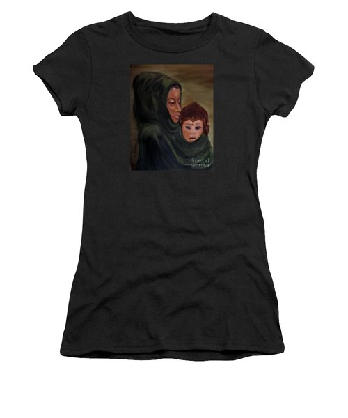 Rachel And Joseph Women's T-Shirt (Junior Cut) by Annemeet Hasidi- van der Leij
