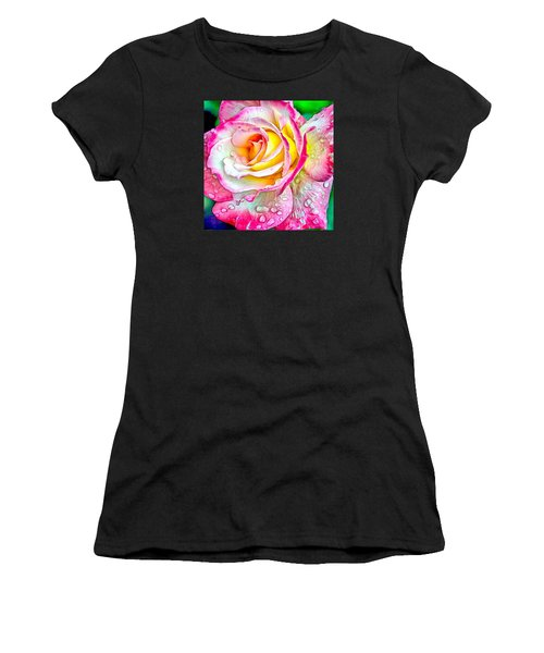Radiant Rose Of Peace Women's T-Shirt