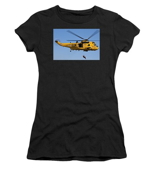 Raf Sea King Search And Rescue Helicopter 2 Women's T-Shirt (Athletic Fit)