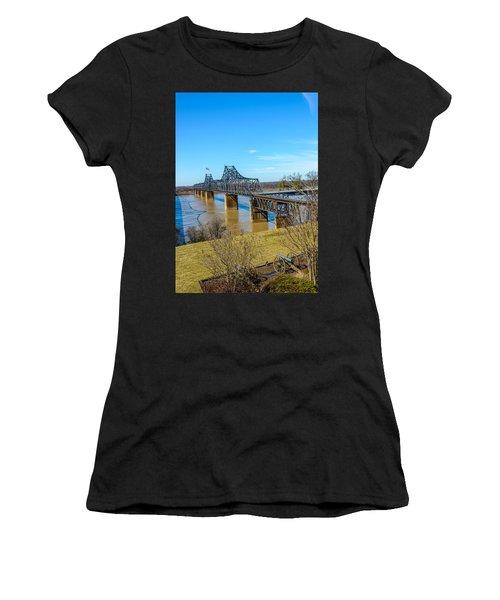 Rail Road Bridge Women's T-Shirt (Athletic Fit)