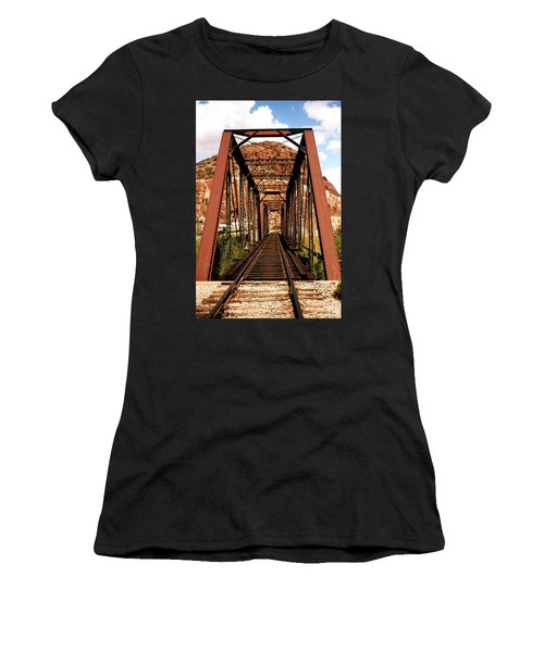 Railroad Bridge Women's T-Shirt (Athletic Fit)