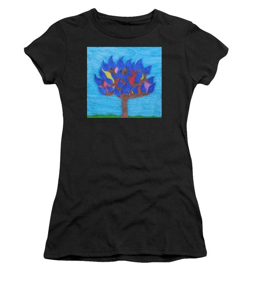Rain Beauty Tree Women's T-Shirt (Athletic Fit)