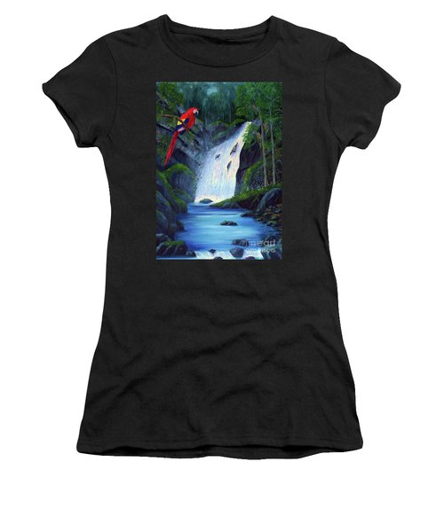 Rain Forest Macaws Women's T-Shirt (Athletic Fit)