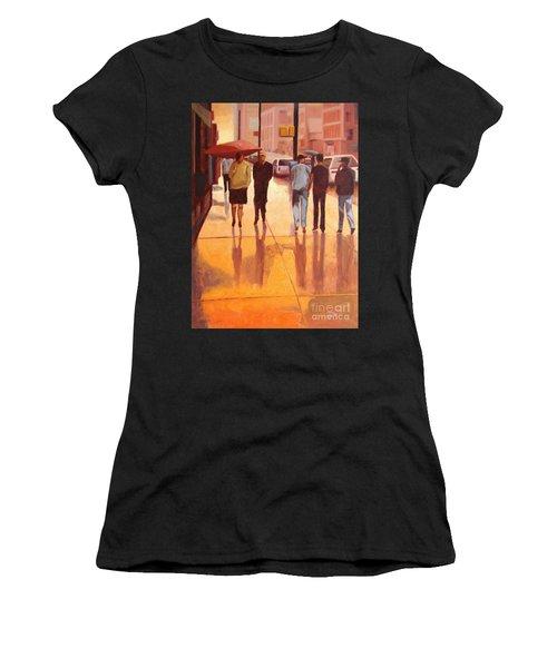 Rain In Manhattan Number Eighteen Women's T-Shirt (Athletic Fit)