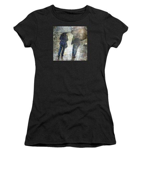Rain Through The Fountain Women's T-Shirt (Athletic Fit)