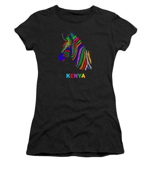 Women's T-Shirt (Junior Cut) featuring the digital art Rainbow by Anthony Mwangi