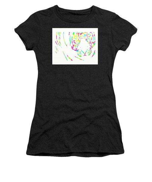 Rainbow Coloured Tiger Women's T-Shirt