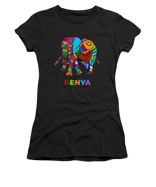 Rainbow Elephant Women's T-Shirt