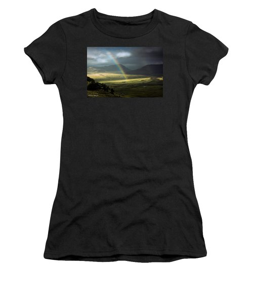 Rainbow In The Valley Women's T-Shirt (Junior Cut) by Andrew Matwijec