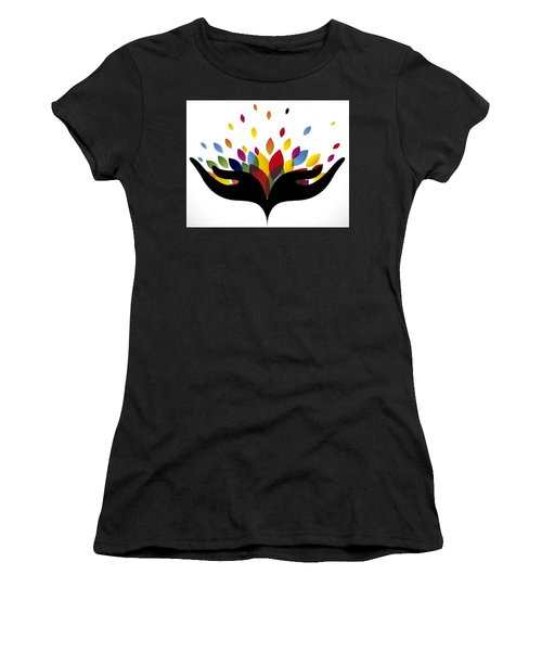 Rainbow Leaves Women's T-Shirt (Junior Cut)