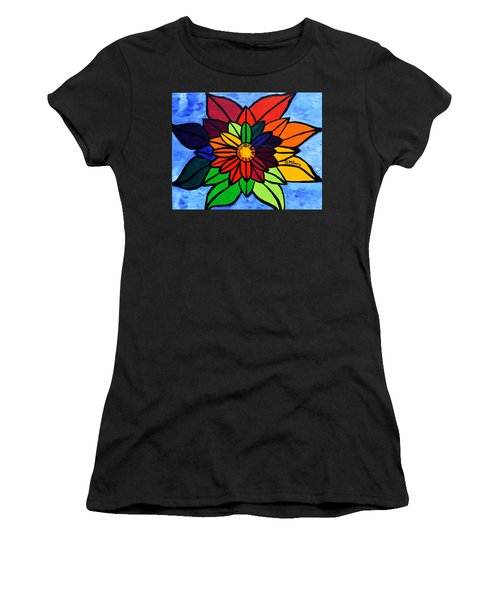 Rainbow Lotus Flower Women's T-Shirt