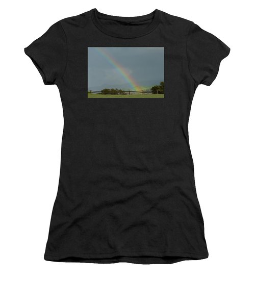 Rainbow On Valhalla Dr. Women's T-Shirt (Athletic Fit)