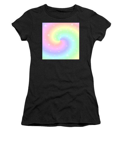 Rainbow Swirl With Stars Women's T-Shirt
