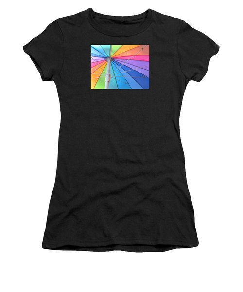 Rainbow Umbrella Women's T-Shirt (Athletic Fit)