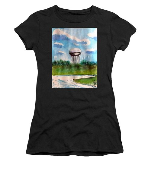 Raines Road Watertower Women's T-Shirt (Athletic Fit)
