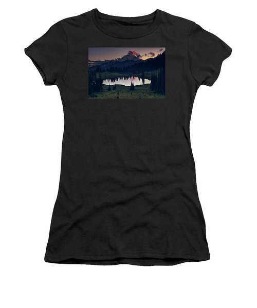 Women's T-Shirt (Athletic Fit) featuring the photograph Rainier Color by Gene Garnace
