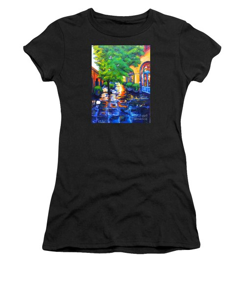 Rainy Dutch Alley Women's T-Shirt (Athletic Fit)