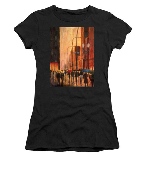 Rainy Evening Chicago Women's T-Shirt (Athletic Fit)