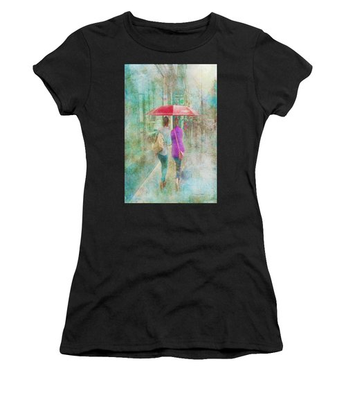 Rainy In Paris 1 Women's T-Shirt (Athletic Fit)