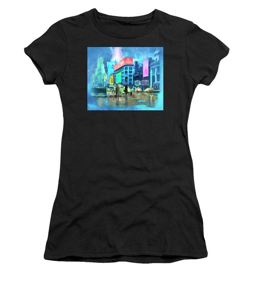 Rainy Night In New York Women's T-Shirt (Athletic Fit)