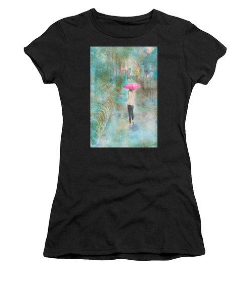 Rainy In Paris 3 Women's T-Shirt (Athletic Fit)