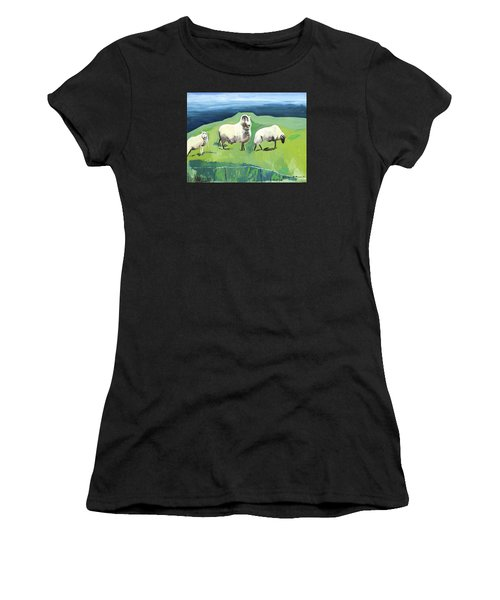 Ram On A Hill Women's T-Shirt (Athletic Fit)