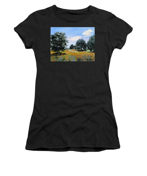 Ranch Road Near Bandera Texas Women's T-Shirt