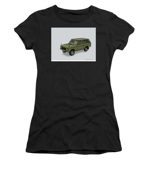 Women's T-Shirt (Athletic Fit) featuring the mixed media Range Rover Classical 1970 by TortureLord Art