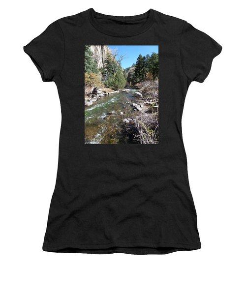 Rapid Stream Women's T-Shirt (Junior Cut) by Constance DRESCHER