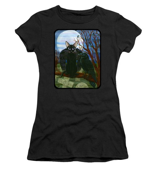 Raven's Moon Black Cat Crow Women's T-Shirt