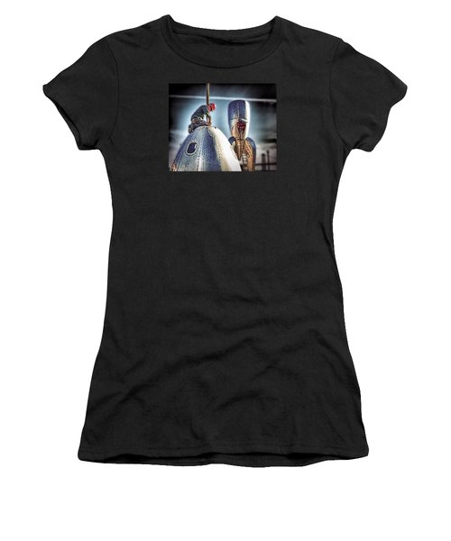Women's T-Shirt (Junior Cut) featuring the photograph Raygun Gothic Rocketship Safe Landing by Steve Siri