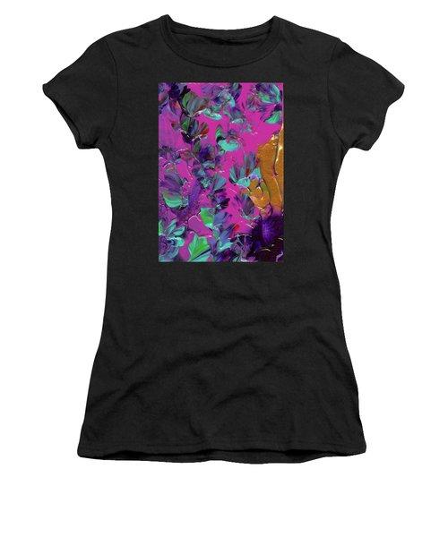 Razberry Ocean Of Butterflies Women's T-Shirt (Athletic Fit)